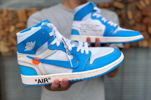 UNC off white air jordan 1