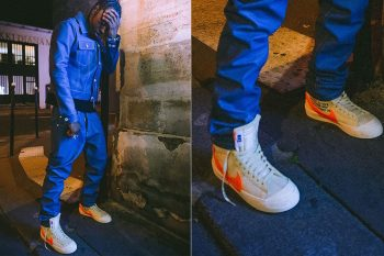 off white nike blazer white orange