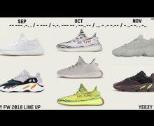 2018 yeezy line up