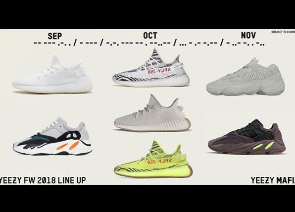 quality design abe8d 56f32 September Adidas Yeezy releases