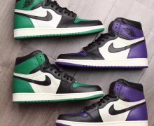 air jordan 1 court purple pin green