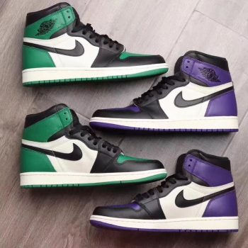 air jordan 1 court purple pin green