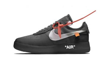 Nike Off White Air Force 1 in Black