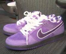 nike sb dunks purple lobster