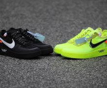 off white nike air force 1 black volt