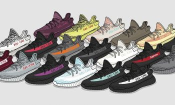 Collection of Adidas Yeezy Boost 350