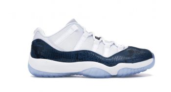 Air Jordan Sneakers 11- Navy Snakeskin