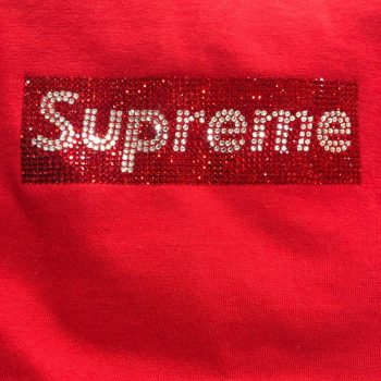 Supreme Box Logo in Swarovski