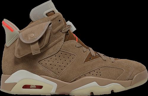 michael jordan sneakers - AJ6 Travis Scott British Khaki