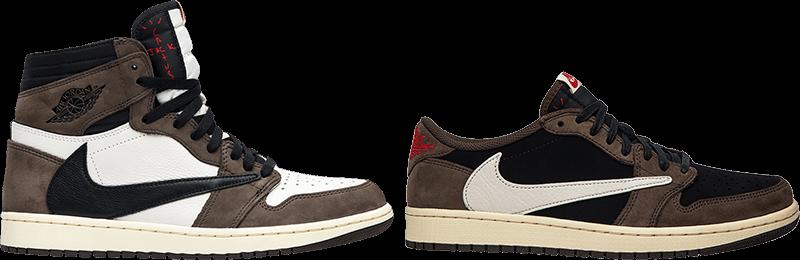 Nike Swoosh Travis Scott Jordans