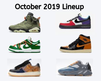 October 2019 Sneaker Releases