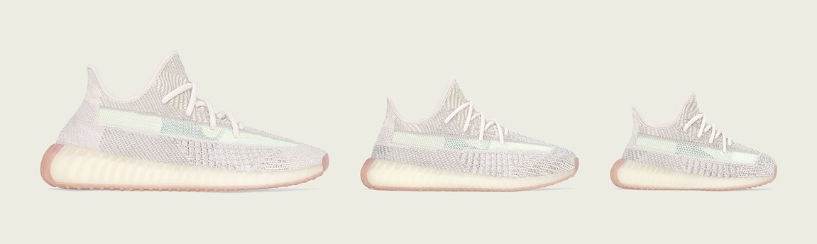 Yeezy Boost 350 V2 Citrin Full Family Sizes