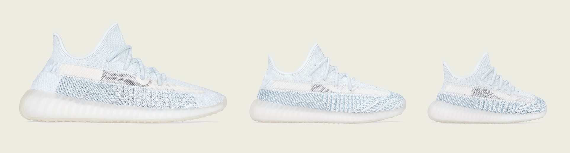 Yeezy Boost 350 V2 Cloud White Full Family Sizes