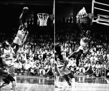 Michael Jordan Shattered Backboard moment