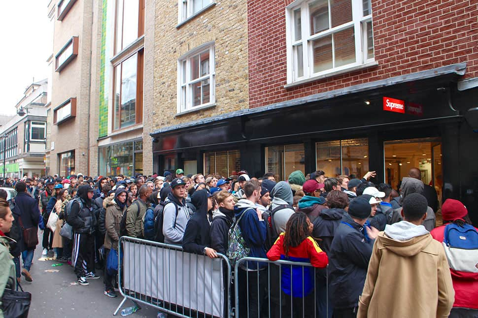 Queue Supreme Release - Reselling Supreme