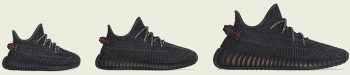 Yeezy releases 2019: yeezy 350 v2 black family size