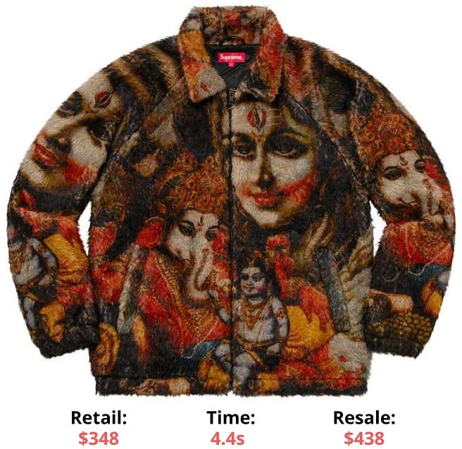 Ganesh Faux Fur Jacket supreme sellout times supreme item