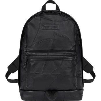 Patchwork leather backpack supreme nike week 11