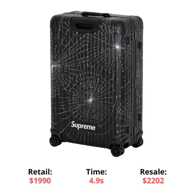 Supreme RIMOWA Check-In L supreme sellout times supreme items