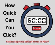 Supreme Sellout Times