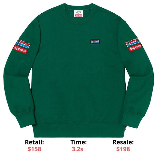Supreme items supreme - Honda - Fox Racing Crewneck Dark green Supreme Sellout times