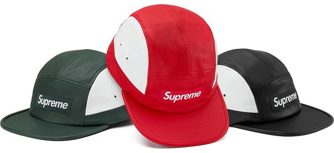 Supreme FW19 2 tone leather camp cap