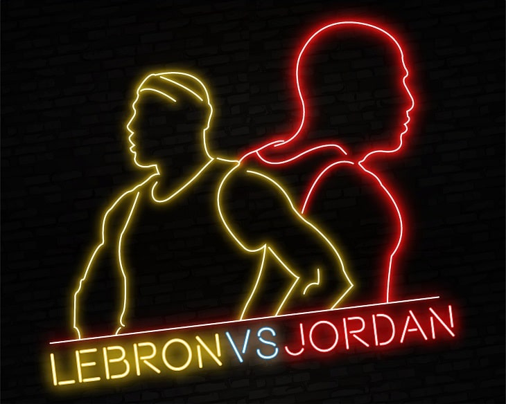 Lebron James and Michael Jordan -