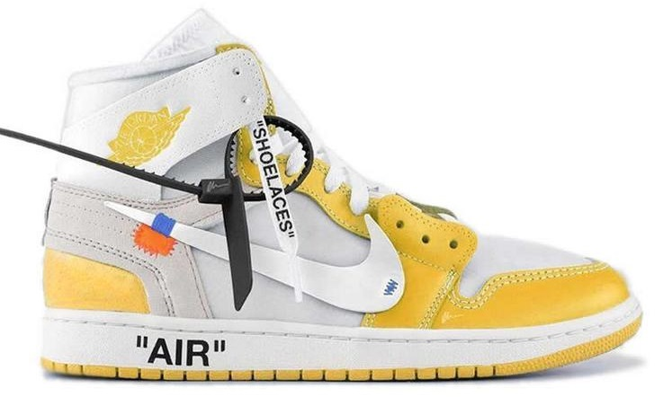 off white air jordan 1 yellow off white sneakers
