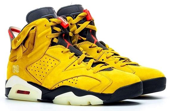 off white sneakers off white air jordan1 - travis aj6 yellow