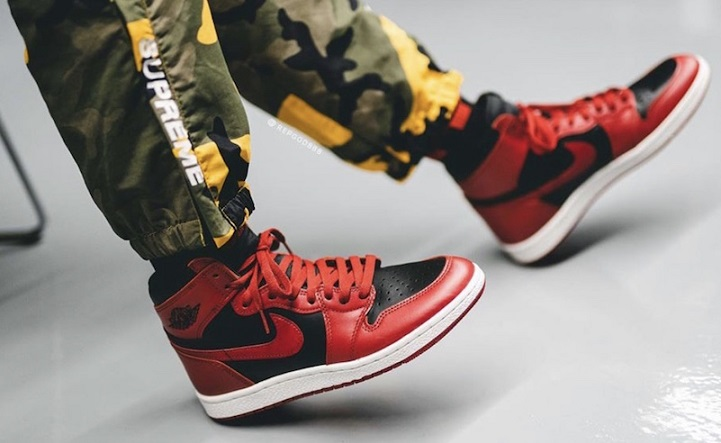 Air Jordan 1 Retro High 85 on feet