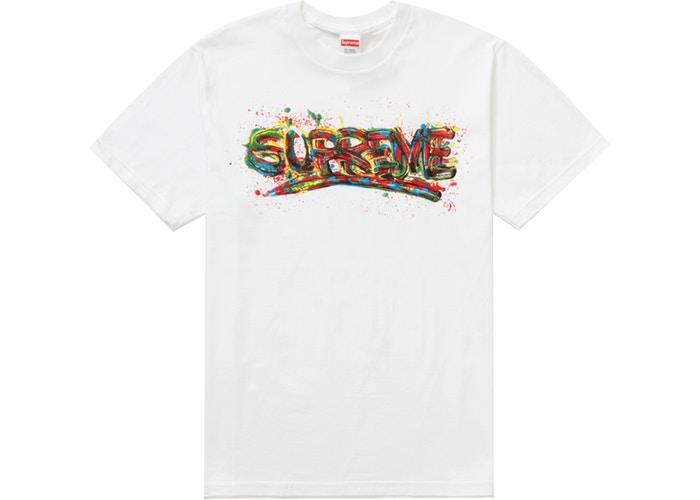 Supreme droplist week 1 paint tshirt - tupac shirt