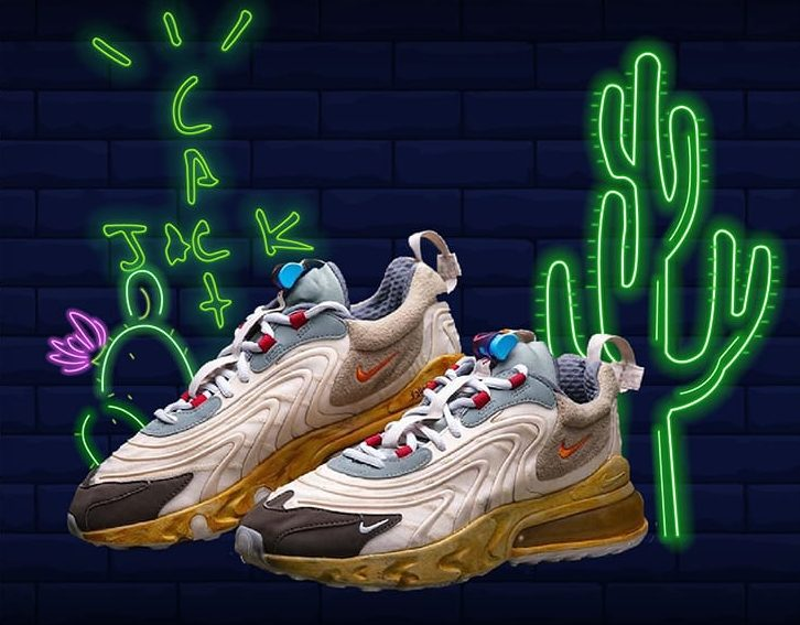 Travis Scott shoes Nike Air Max 270 React Neon Image
