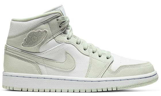 Women Sneakers 2020 - Air Jordan 1 Mid Spruce Aura