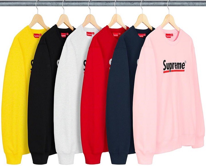 Supreme Drops - Underline Logo Crewneck