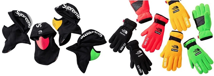 Supreme The North Face RTG Balaclava and Fleece Gloves SS20