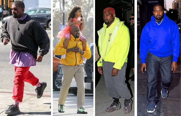 How to wear Yeezys - Yeezy 700 & 500 colorful outfits