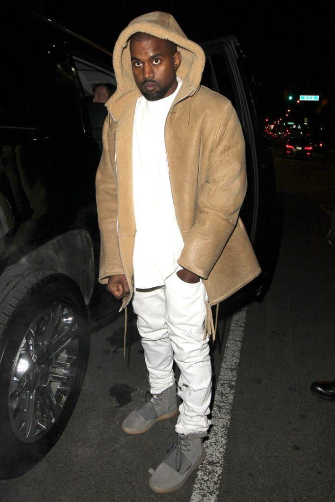 How to wear Yeezys - Yeezy 750 with fleece jacket