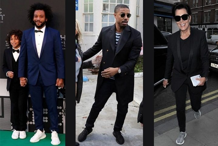 How to wear Yeezys - formal outfit with yeezy 350