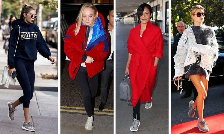 How to wear Yeezys - the ladies rock yeezy 350s