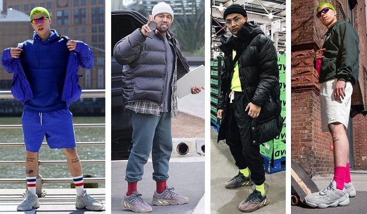 How to wear Yeezys - yeezy 700 & 500 shorts and socks