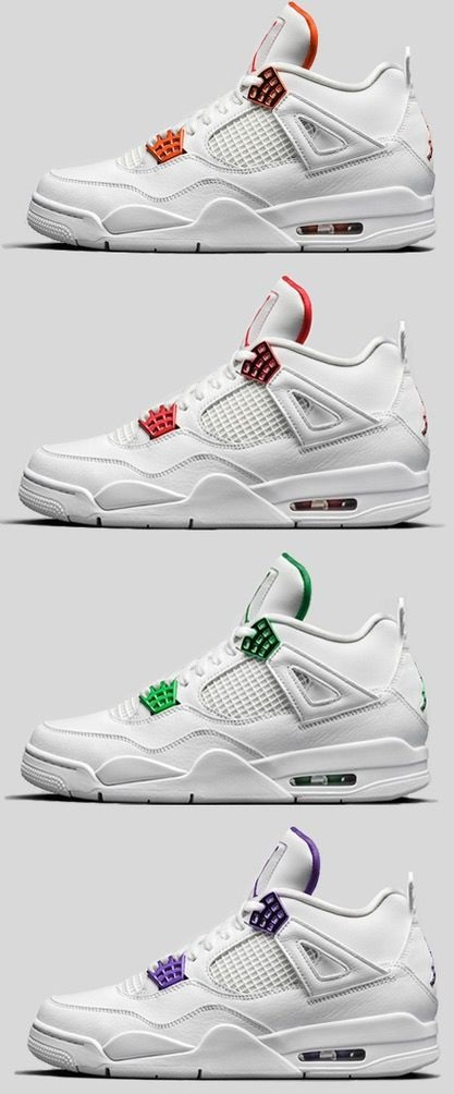 new jordan 4s - air jordan 4 metallic pack - 4 colorways