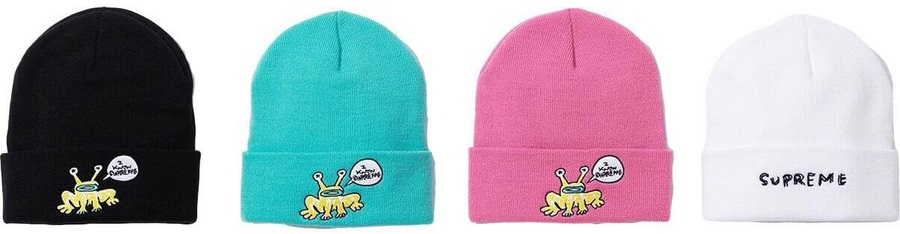 supreme daniel johnston frog beanie
