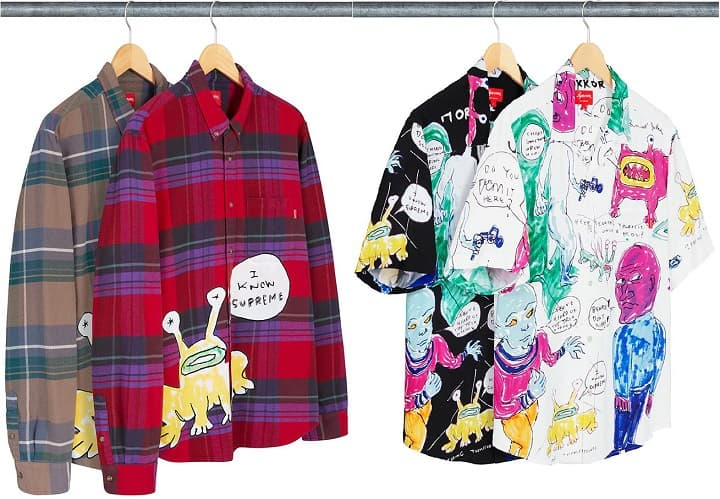 supreme daniel johnston shirts