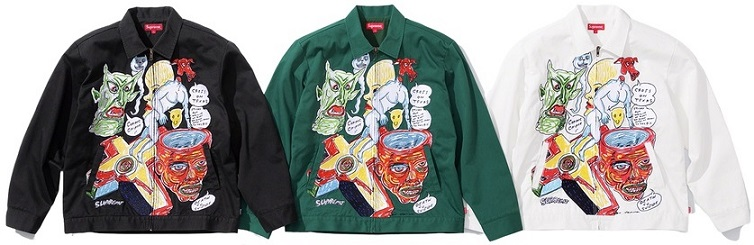 supreme daniel johnston work jacket