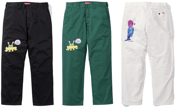 supreme daniel johnston work pant