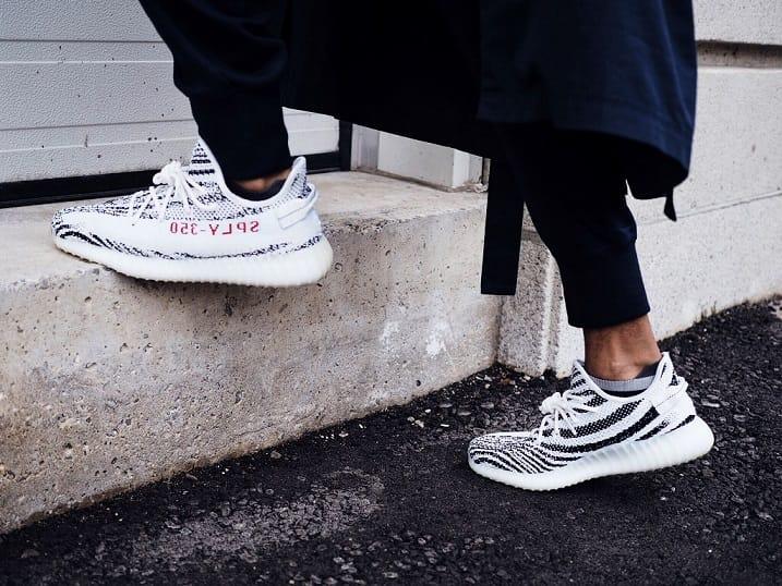 yeezy zebra restock - on feet