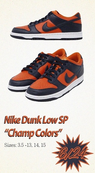 nike dunks champs infographic