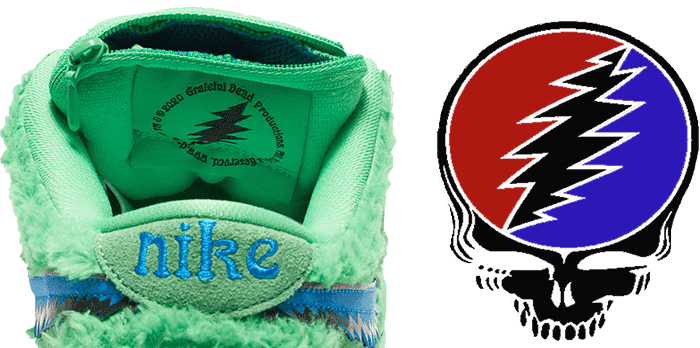 Grateful Dead Dunk tongue