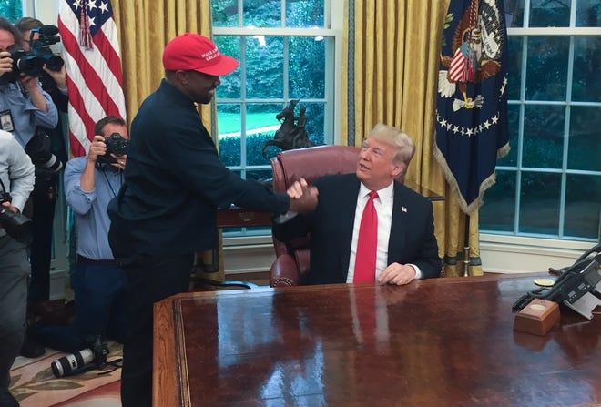 Kanye west president Trump