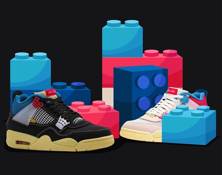 Union Jordan 4 color block